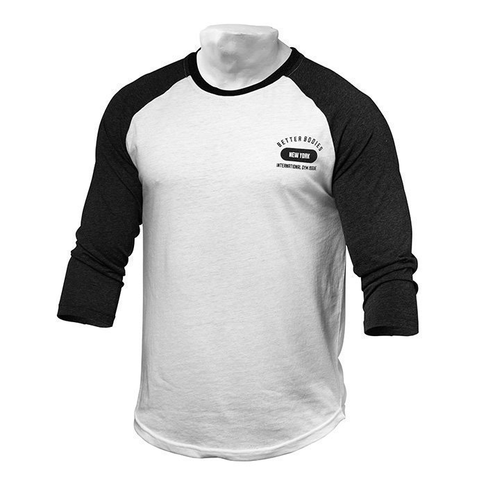 Better Bodies Men's Baseball Tee antracite/white S