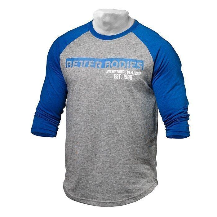 Better Bodies Men's Baseball Tee blue/grey melange XL