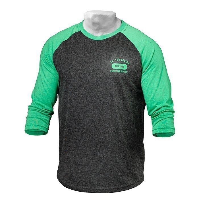 Better Bodies Men's Baseball Tee green/antracite melange S