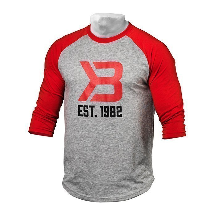 Better Bodies Men's Baseball Tee red/grey melange XL