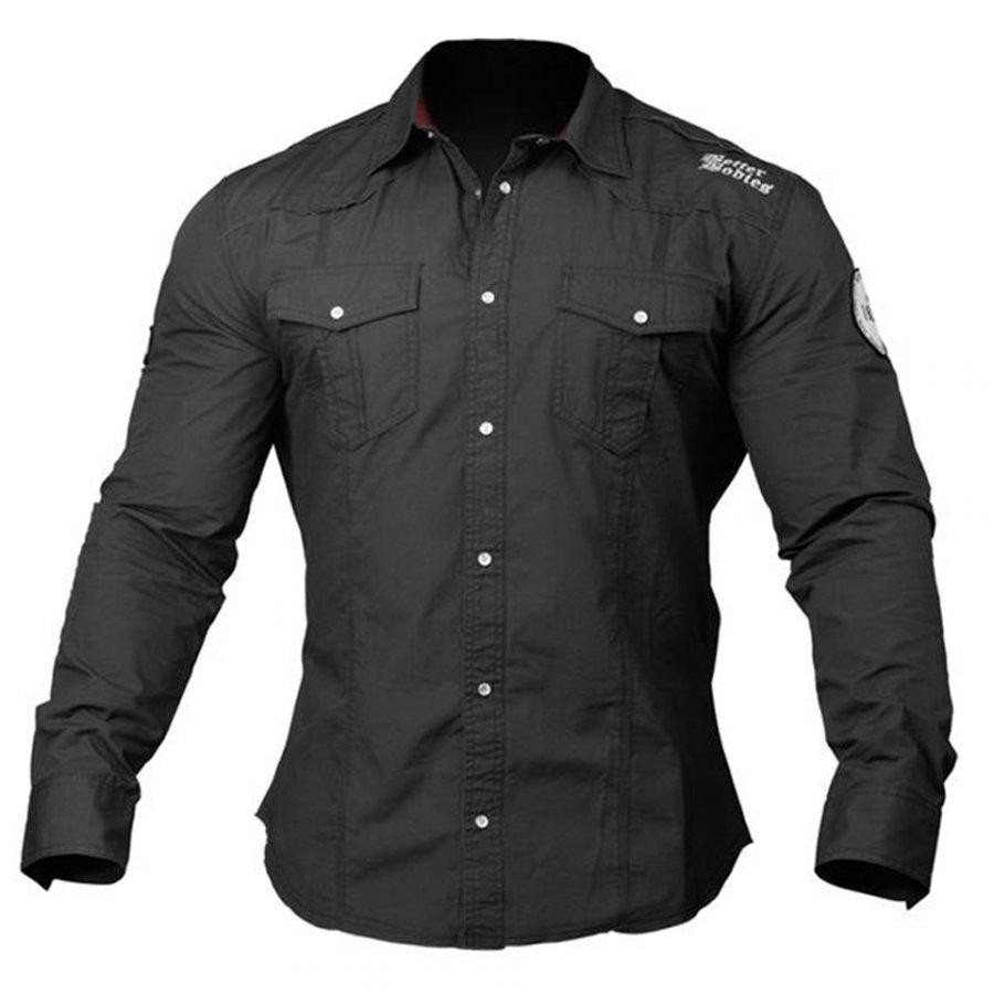 Better Bodies Men's Flex Shirt Wash Black S Musta