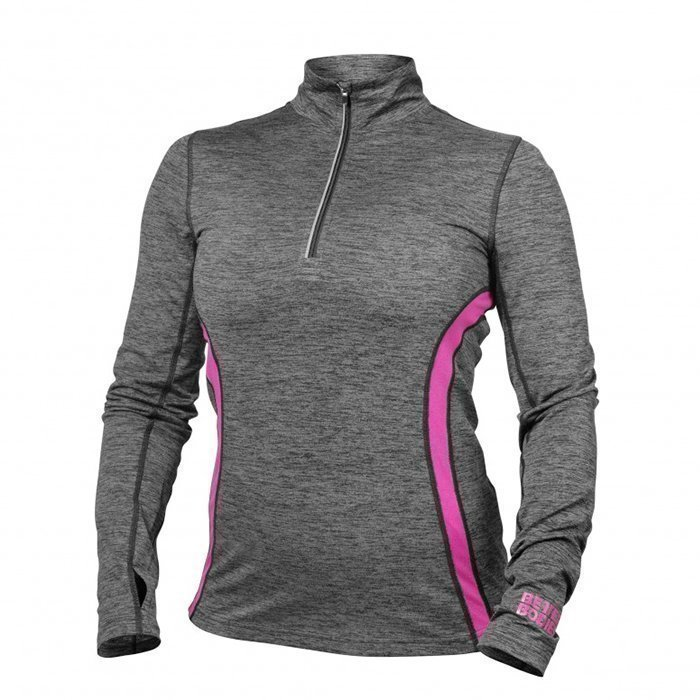 Better Bodies Performance Mid L/S Graphite/Pink Small