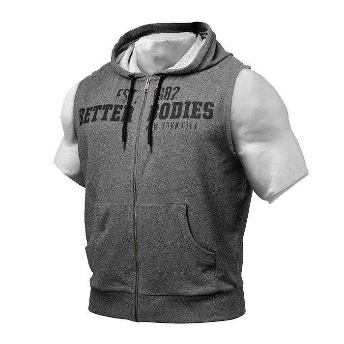 Better Bodies Raw S/L Hood antracite melange L
