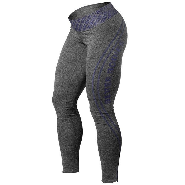 Better Bodies Shaped Logo Tights anthracite/purple M