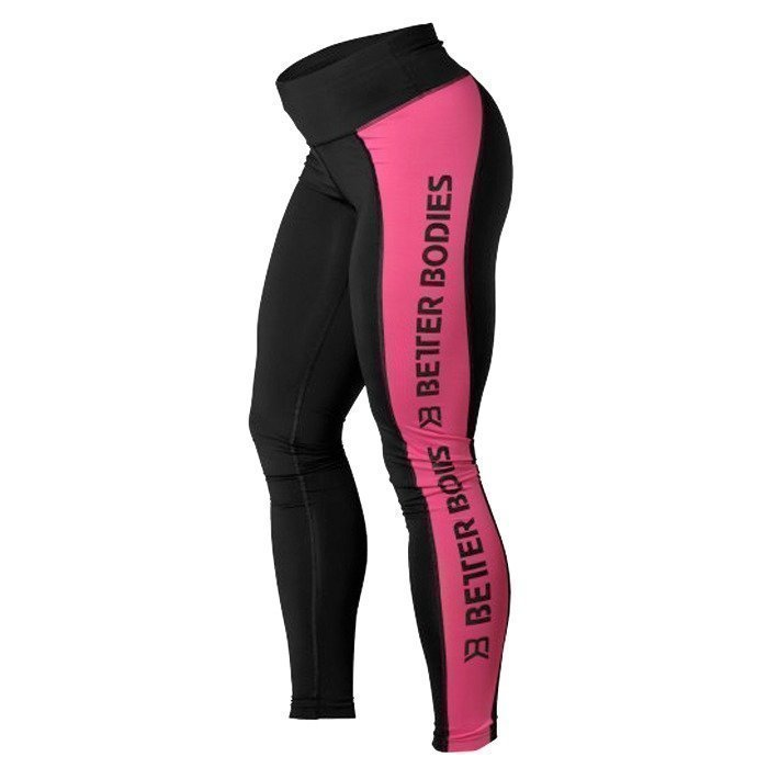 Better Bodies Side Panel Tights black/pink XS