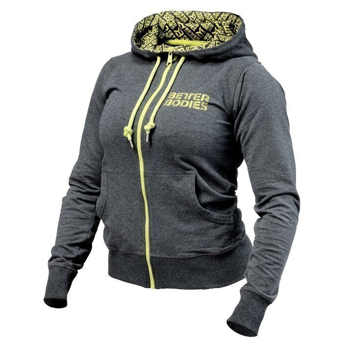 Better Bodies Soft Logo Hoodie antracite melange S