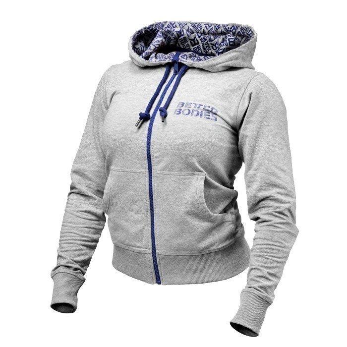 Better Bodies Soft Logo Hoodie grey melange L