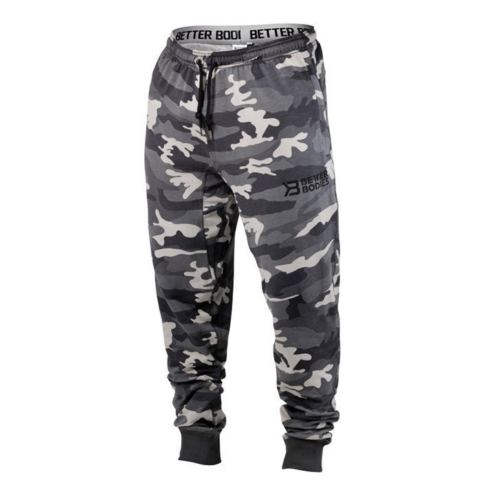 Better Bodies Tapered Camo Pants Grey Camo Small