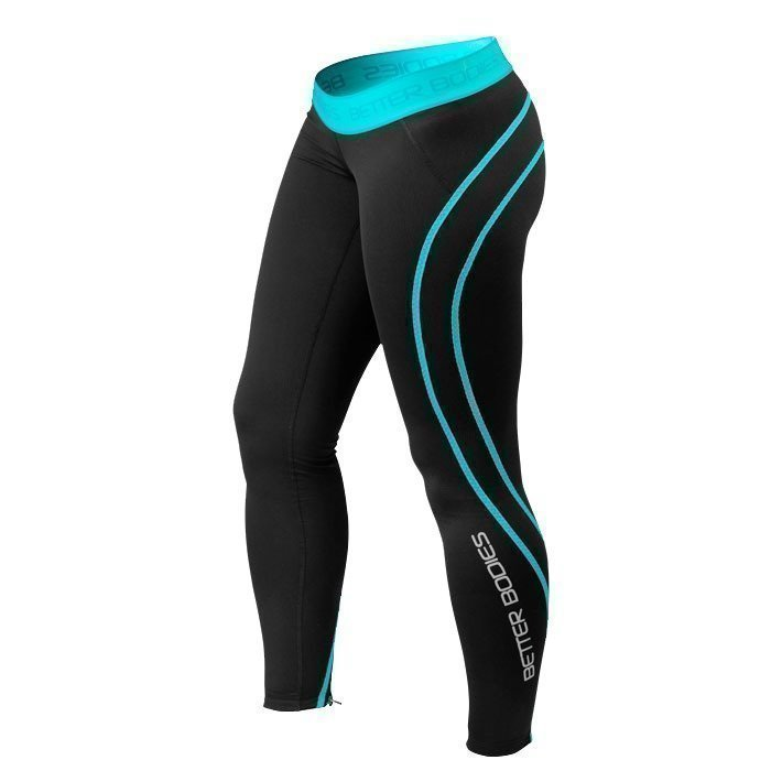 Better Bodies Women's Athlete Tights black/aqua M