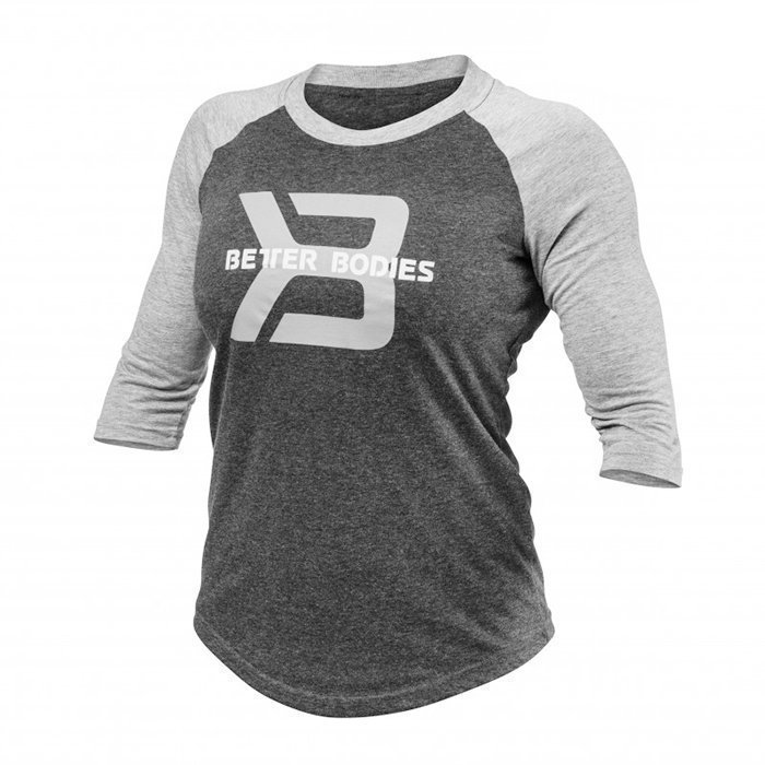 Better Bodies Women's Baseball Tee Antracite Melange Small