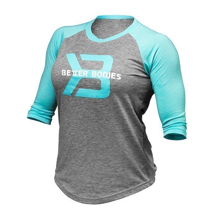 Better Bodies Women's Baseball Tee grey melange/light blue L
