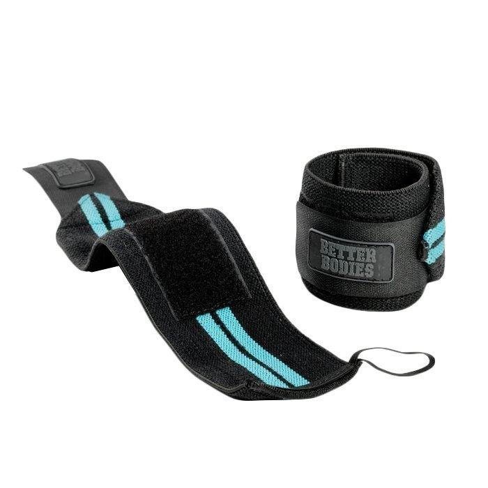 Better Bodies Womens Wrist Wraps aqua blue