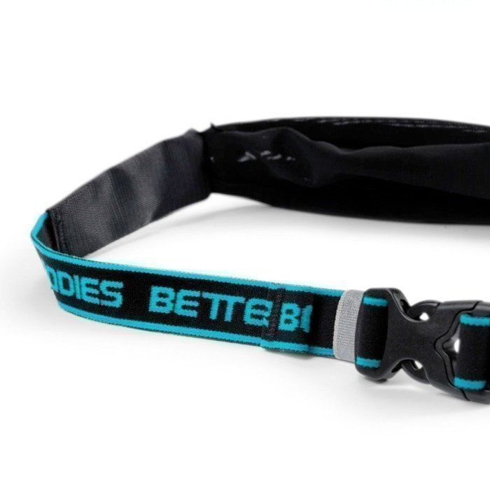Better Bodies Zip Belt black/aqua