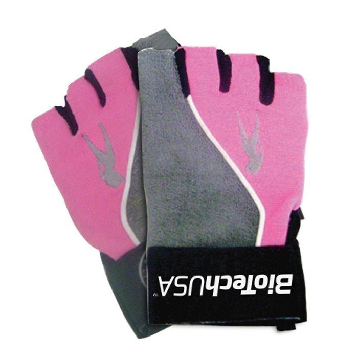 Biotech USA PinkFit Gloves Grey/Pink Small