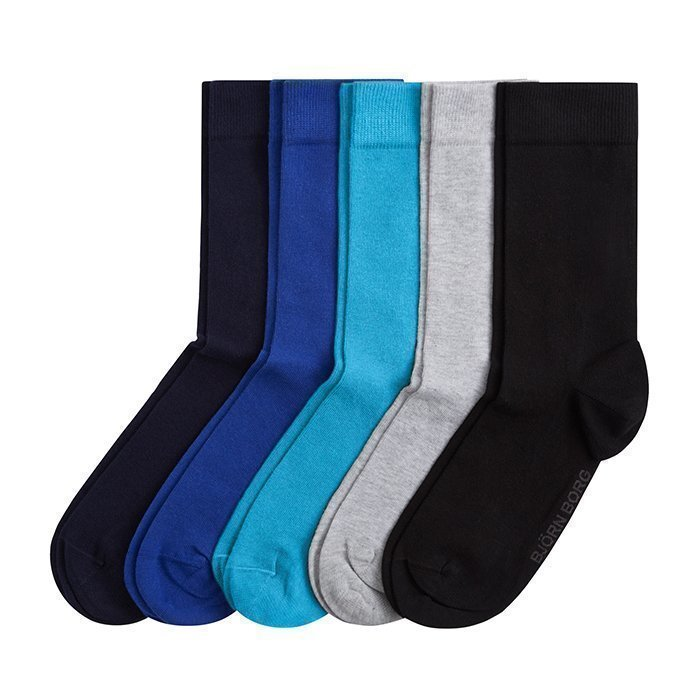 Björn Borg Ankle Sock NOOS Solids 5-Pack Total eclipse 41-45