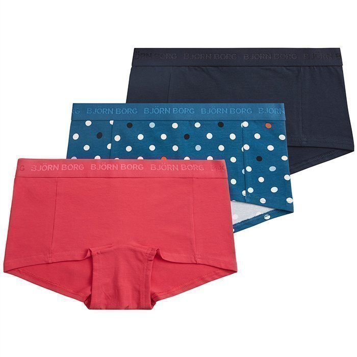 Björn Borg Mini Shorts BB Contrast Dot 3-Pack Moroccan blue XS