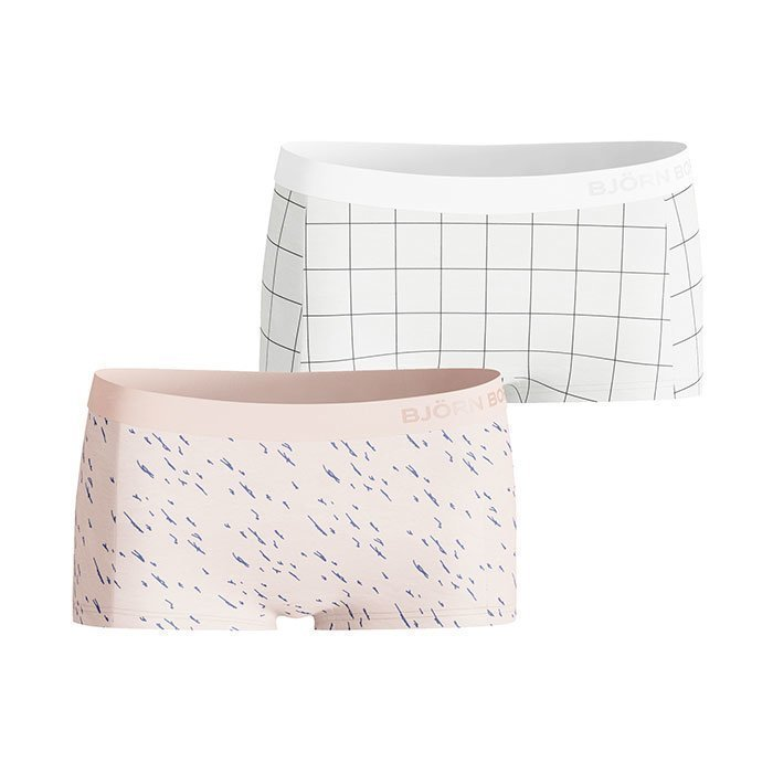 Björn Borg Mini Shorts BB Reflection 2-pack evening sand L