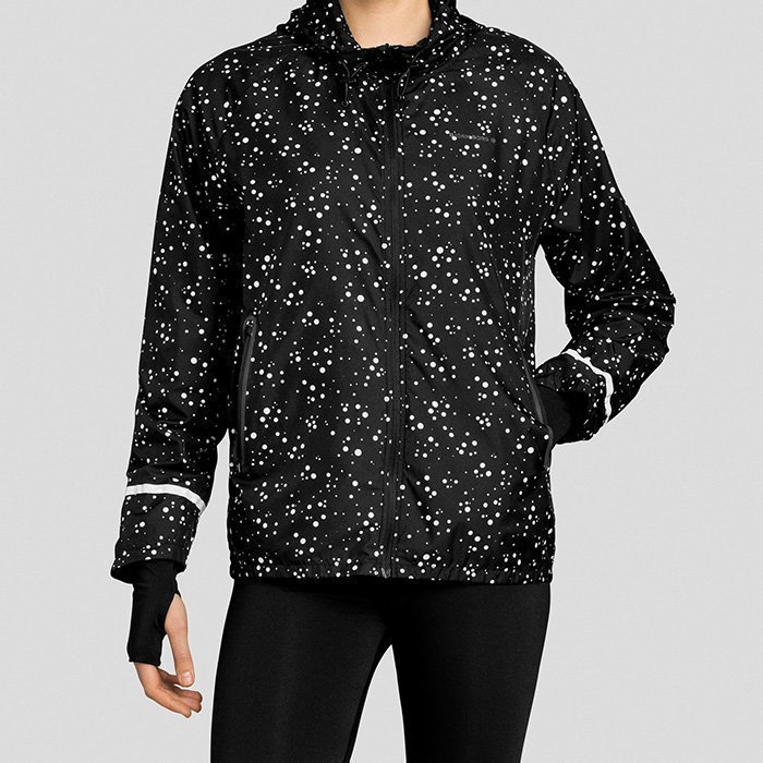 Björn Borg Panthea Jacket Black With Dots XS