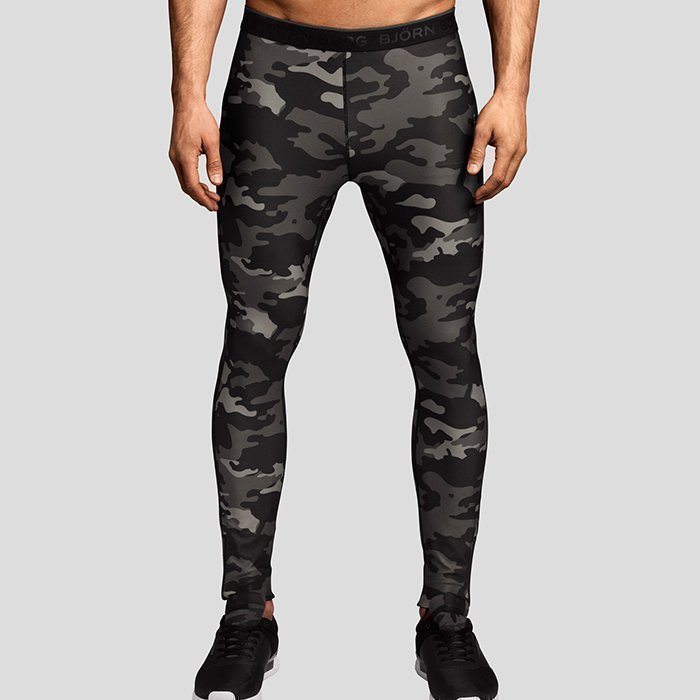 Björn Borg Paris Camo Tights black