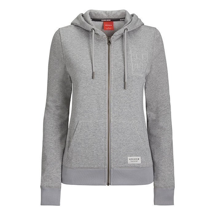 Björn Borg Scarlet Sweat Hoodie Light Grey Melange M