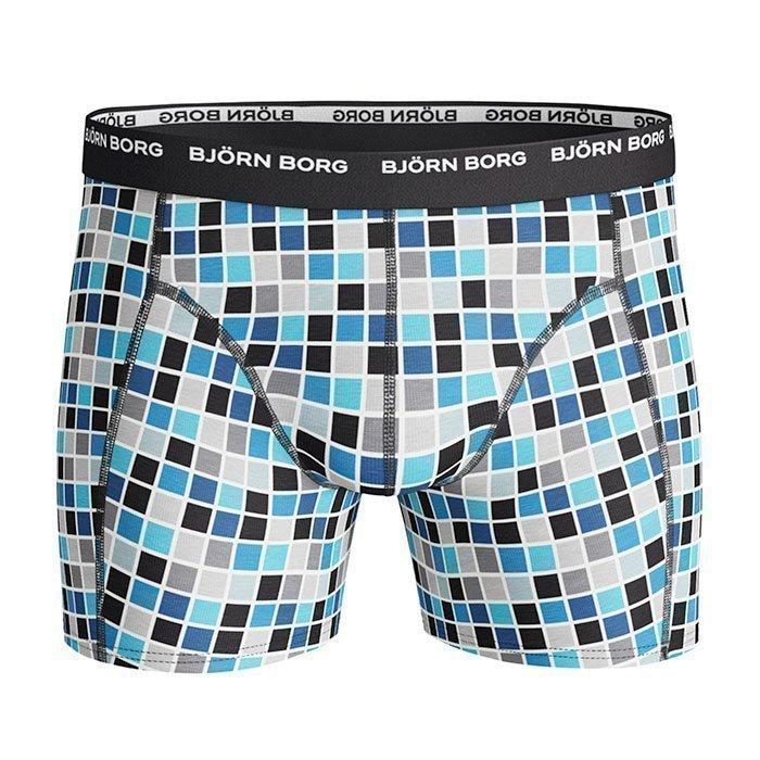 Björn Borg Short Shorts BB Basic Check 3-pack black L