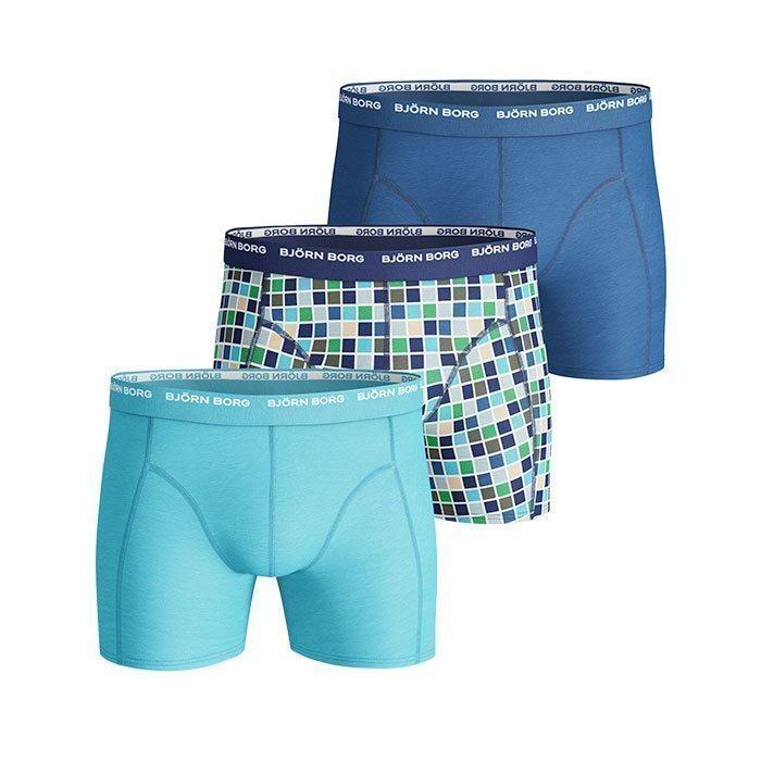 Björn Borg Short Shorts BB Basic Check 3-pack monaco blue S