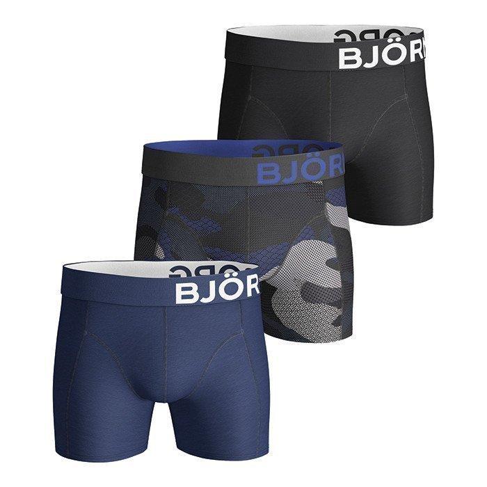 Björn Borg Shorts Contrast Camo 3-P Asphalt S
