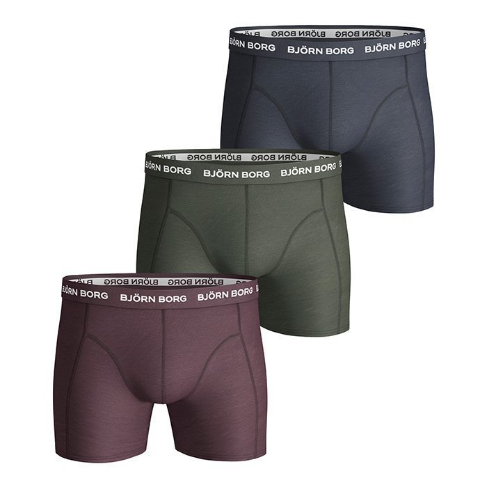 Björn Borg Shorts Seasonal solids 3-Pack Winetasting