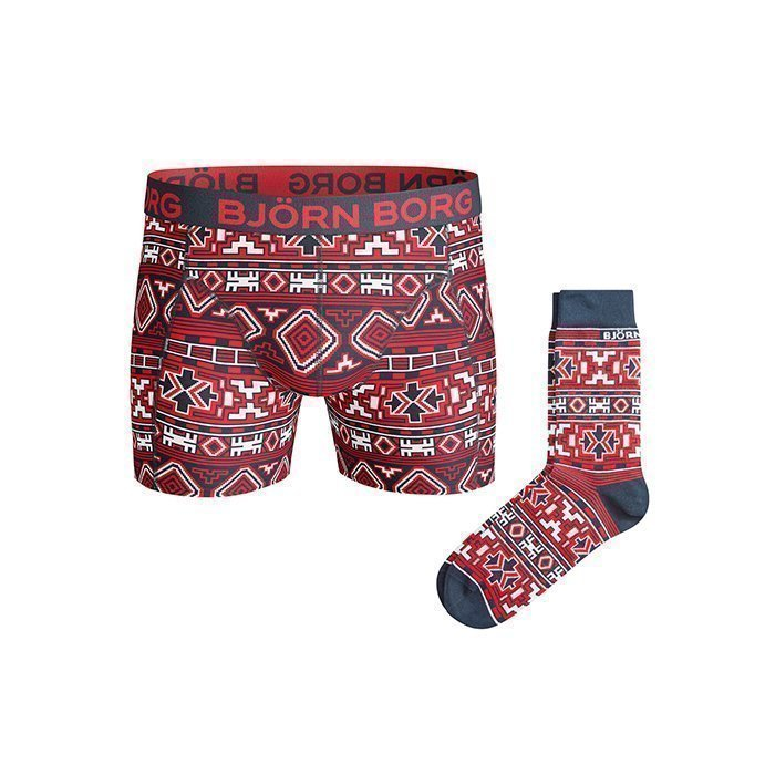 Björn Borg Shorts XMAS Native knit 2-Pack Total eclipse