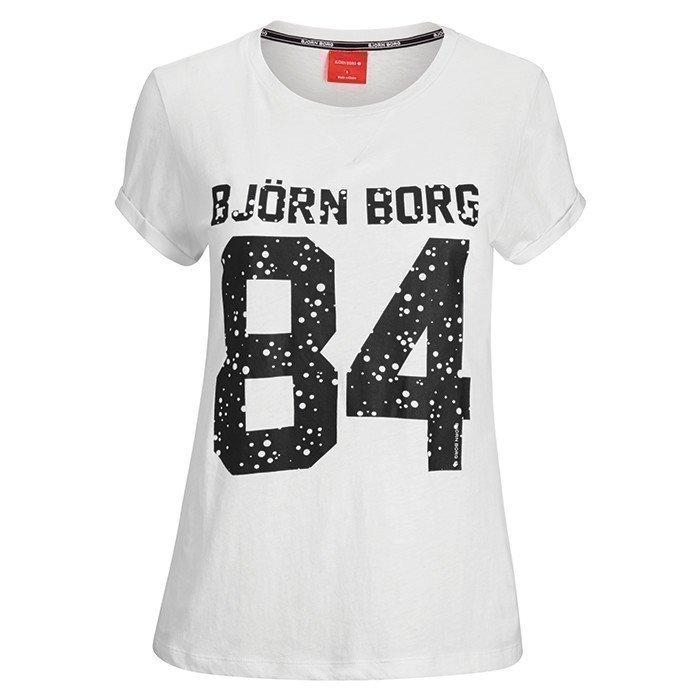 Björn Borg Silvie T-shirt With Print Cloud Dancer XL