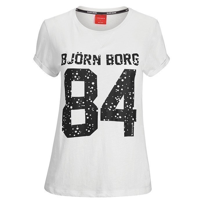Björn Borg Silvie T-shirt With Print Cloud Dancer XS