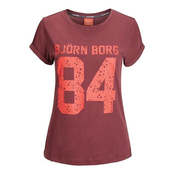 Björn Borg Silvie T-shirt With Print Winetastin