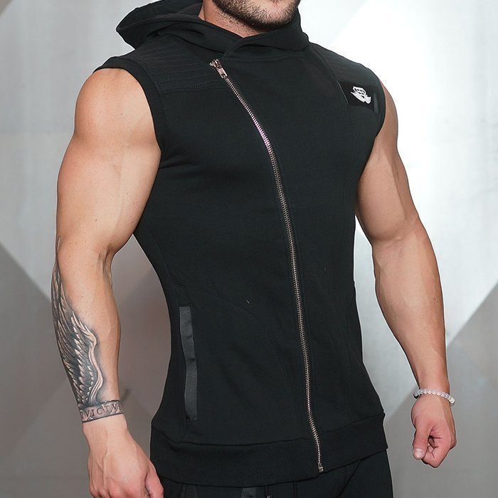 Body Engineer Yurei Sleeveless Hoodie Black