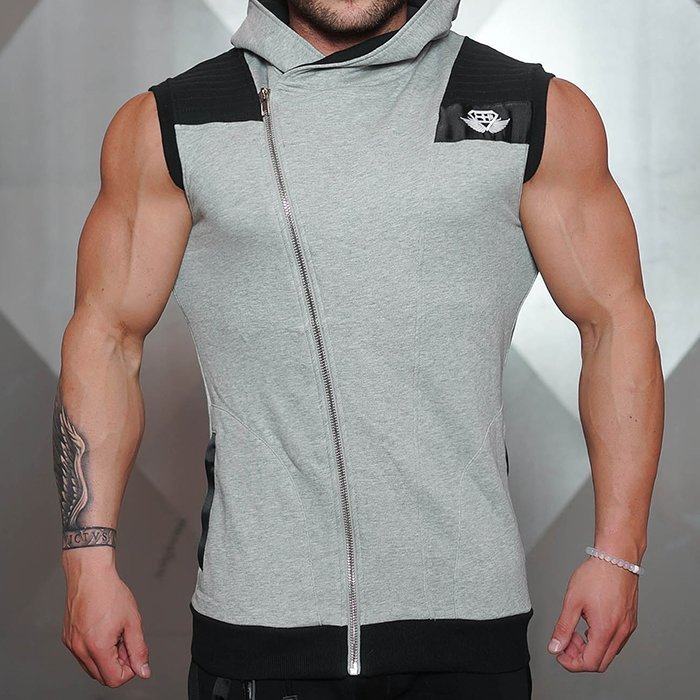 Body Engineer Yurei Sleeveless Hoodie Grey