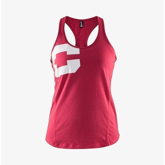 CLN Athletics CLN Women Big C Tank Raspberry M