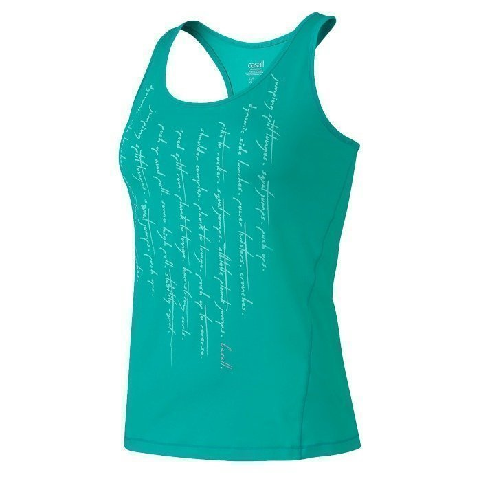 Casall Quote racerback top tropical green
