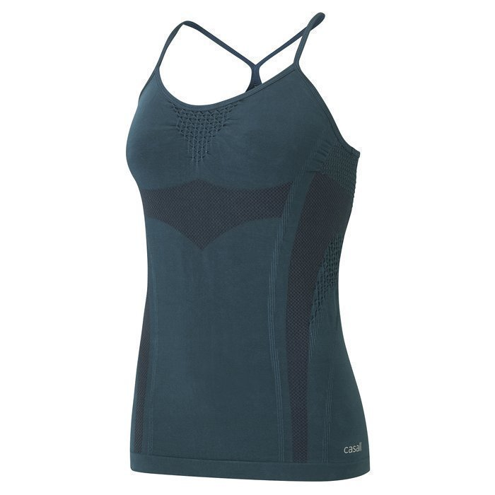 Casall Refined Yoga Tank Pro Blue
