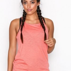 Casall Textured Loose Tank Treenitoppi Loose Fit Coral