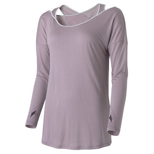 Casall Wrap Long Sleeve joogapaita Miracle Plum