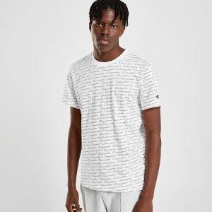 Champion All Over Print T-Shirt Valkoinen