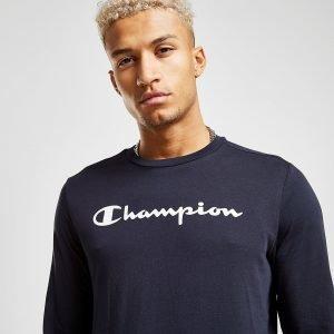 Champion Core Long Sleeve T-Paita Sininen