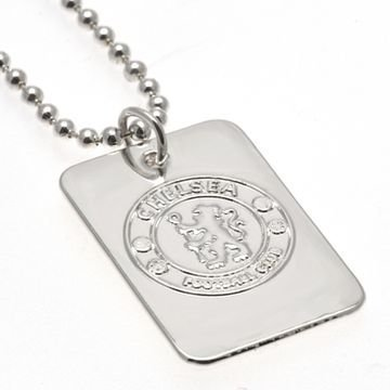 Chelsea Hopea Plated Dog Tag & Chain