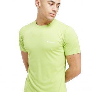 Columbia Short Sleeve Poly Tech T-Paita Lime