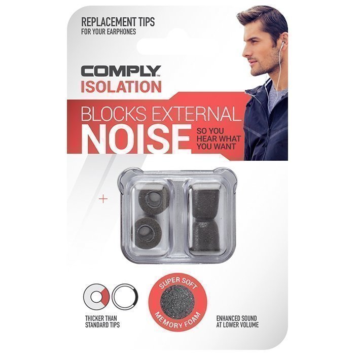 Comply Foam Universal Tips Isolation 2-pack Black Medium