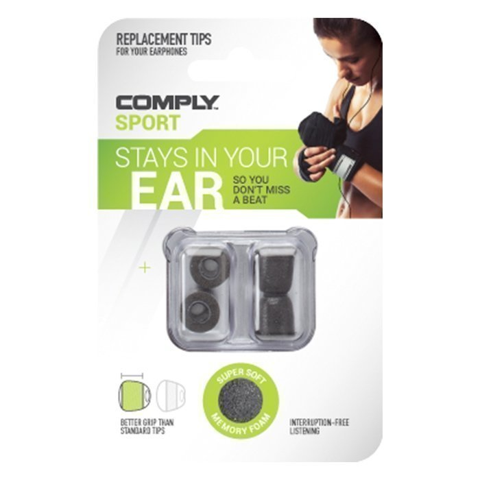 Comply Foam Universal Tips Sport 2-pack Black Medium