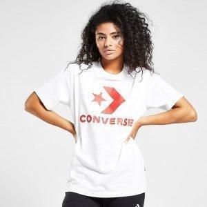 Converse Star Chevron Boyfriend T-Paita Valkoinen