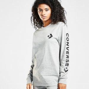 Converse Star Chevron Long Sleeve T-Paita Harmaa