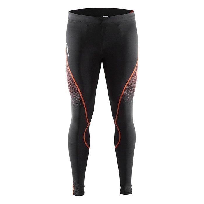 Craft Delta Compression Tights Black/Heat