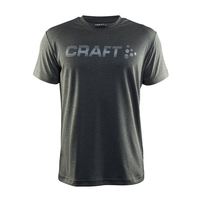 Craft Prime Logo Tee Dark Grey Melange Medium