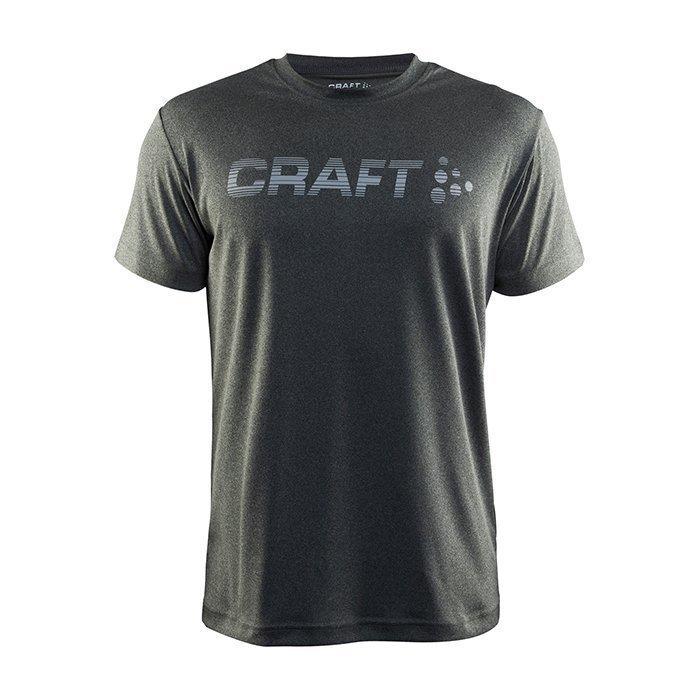 Craft Prime Logo Tee Dark Grey Melange Small